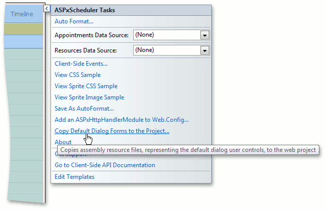 ASPxScheduler - Copying Dialog Forms via Smart Tag Menu