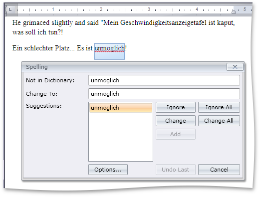 DevExpress Spell Checker supports Hunspell Dictionaries