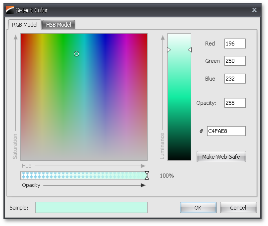 Select Color Using RGB Model - WinForms Color Pick Edit by DevExpress