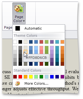 Page Background Color - DXRichEdit for Silverlight by DevExpress