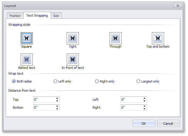 Floating Objects - Layout Dialog - WinForms XtraRichEdit by DevExpress