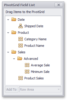 WinForms Pivot Table - Field List Folders