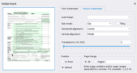 .NET Report Designer: Preprinted Forms Support