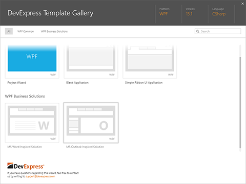 WPF Project Template Gallery