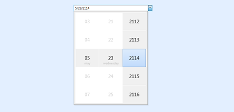 WPF Touch-Enabled Date Picker Control