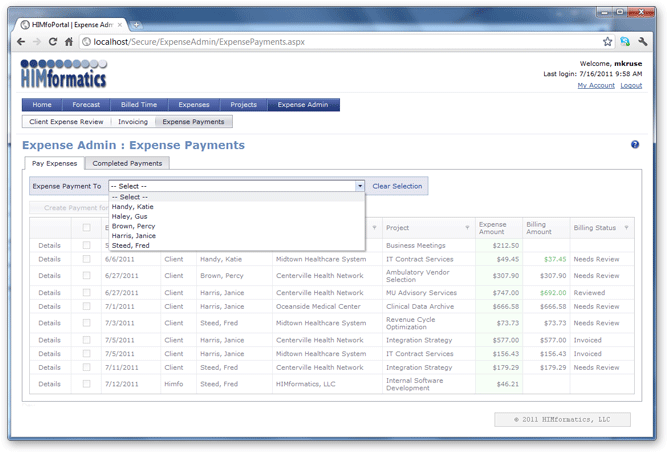 Expense Reports Module