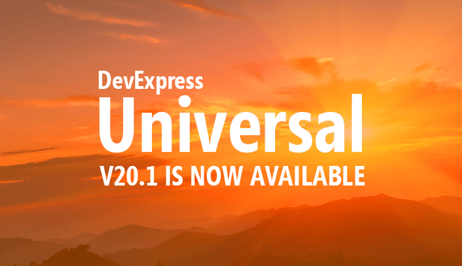 DevExpress v20.1 is Now Shipping