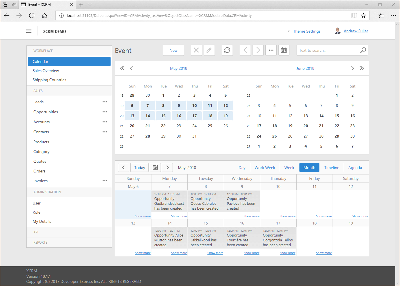 Web App: Scheduler