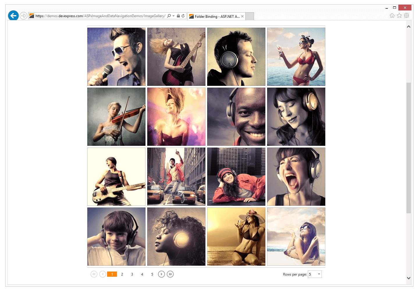 ASP NET Image Gallery, Image Slider and Image Zoom | DevExpress