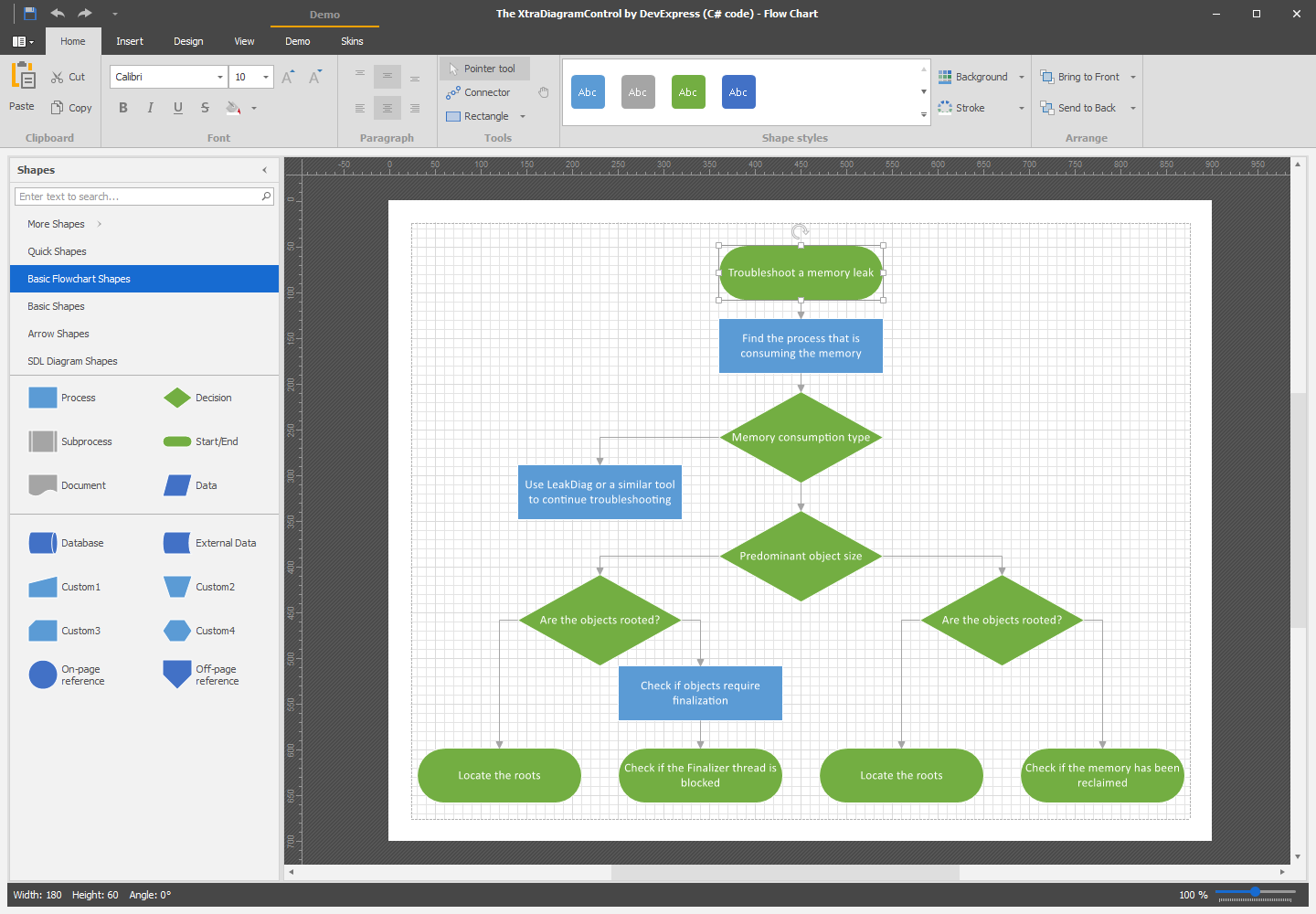 WinForms Diagram Control Designer