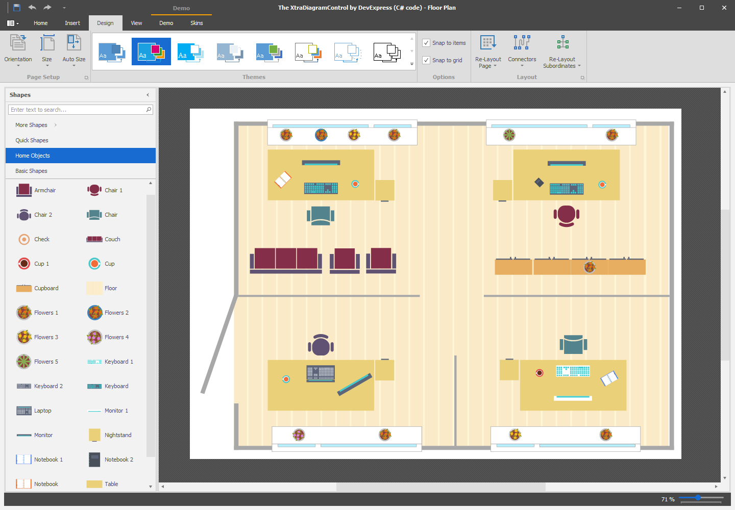Diagram with Vector SVG Shapes
