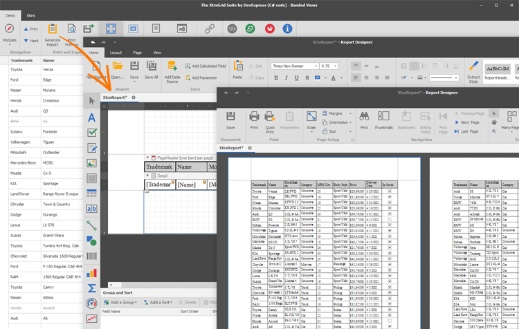 Print and Data Export - WinForms Data Grid | DevExpress