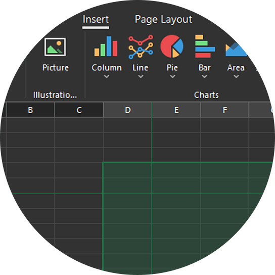 Office 2019 Black Skin - Forest Palette | DevExpress