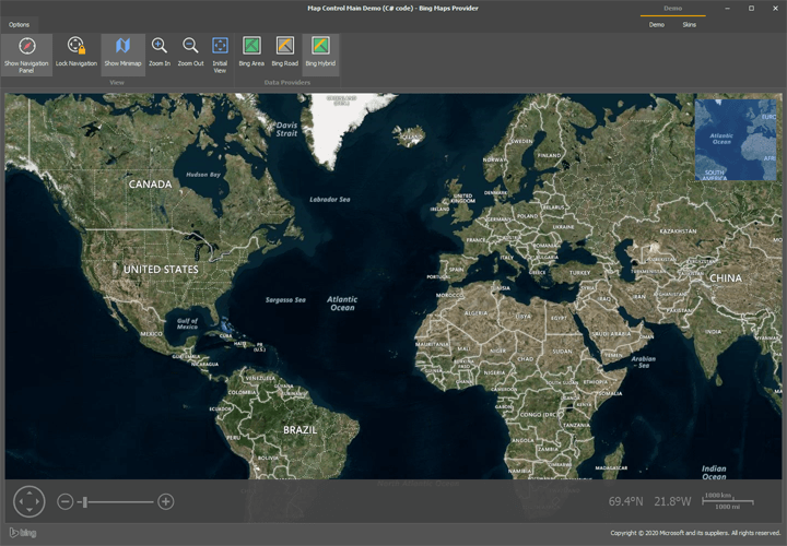 Office Inspired Application with Web Map Service - WinForms Map Control | DevExpress