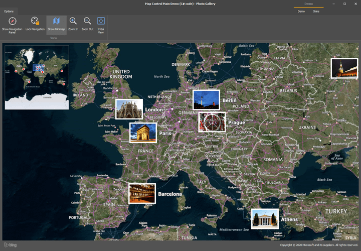 Photo Gallery - WinForms Map Control | DevExpress