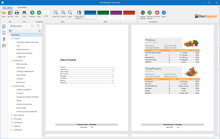 Navigate PDFs - WinForms PDF Viewer | DevExpress