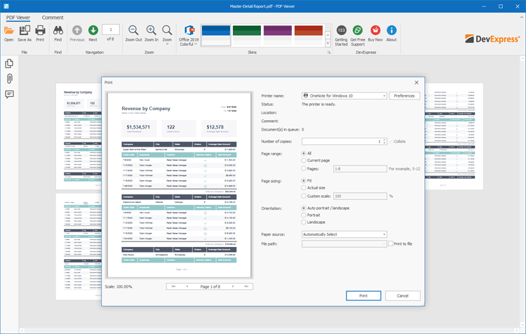 Printing - WinForms PDF Viewer | DevExpress