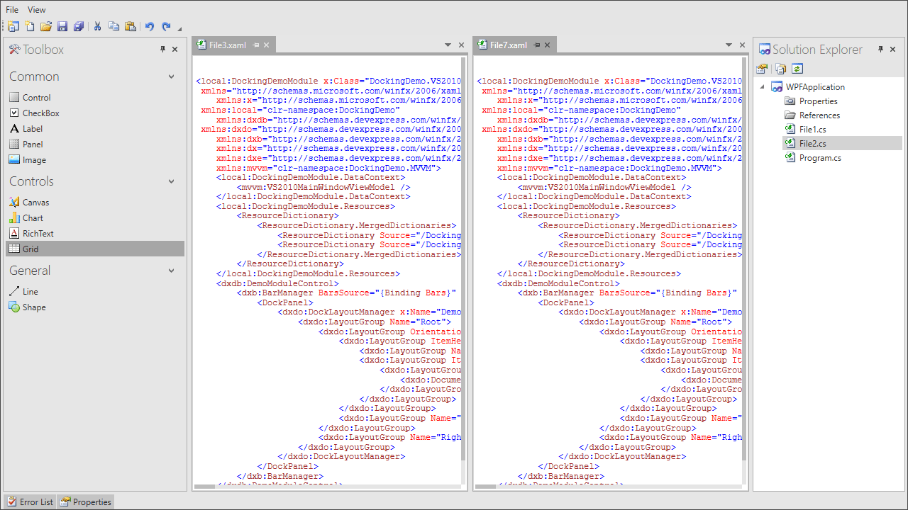 Visual Studio UI