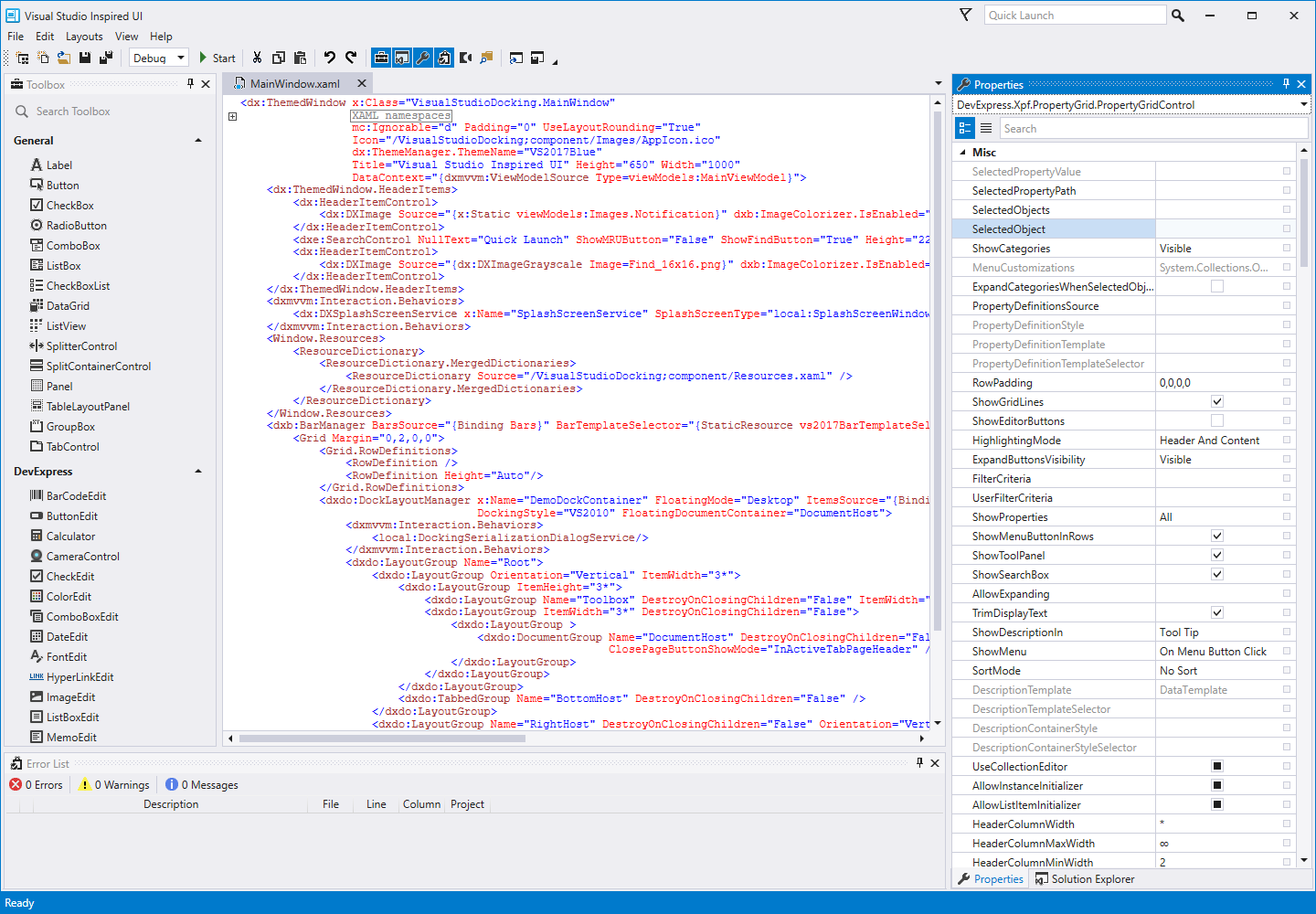 Visual Studio inspired Object Inspector