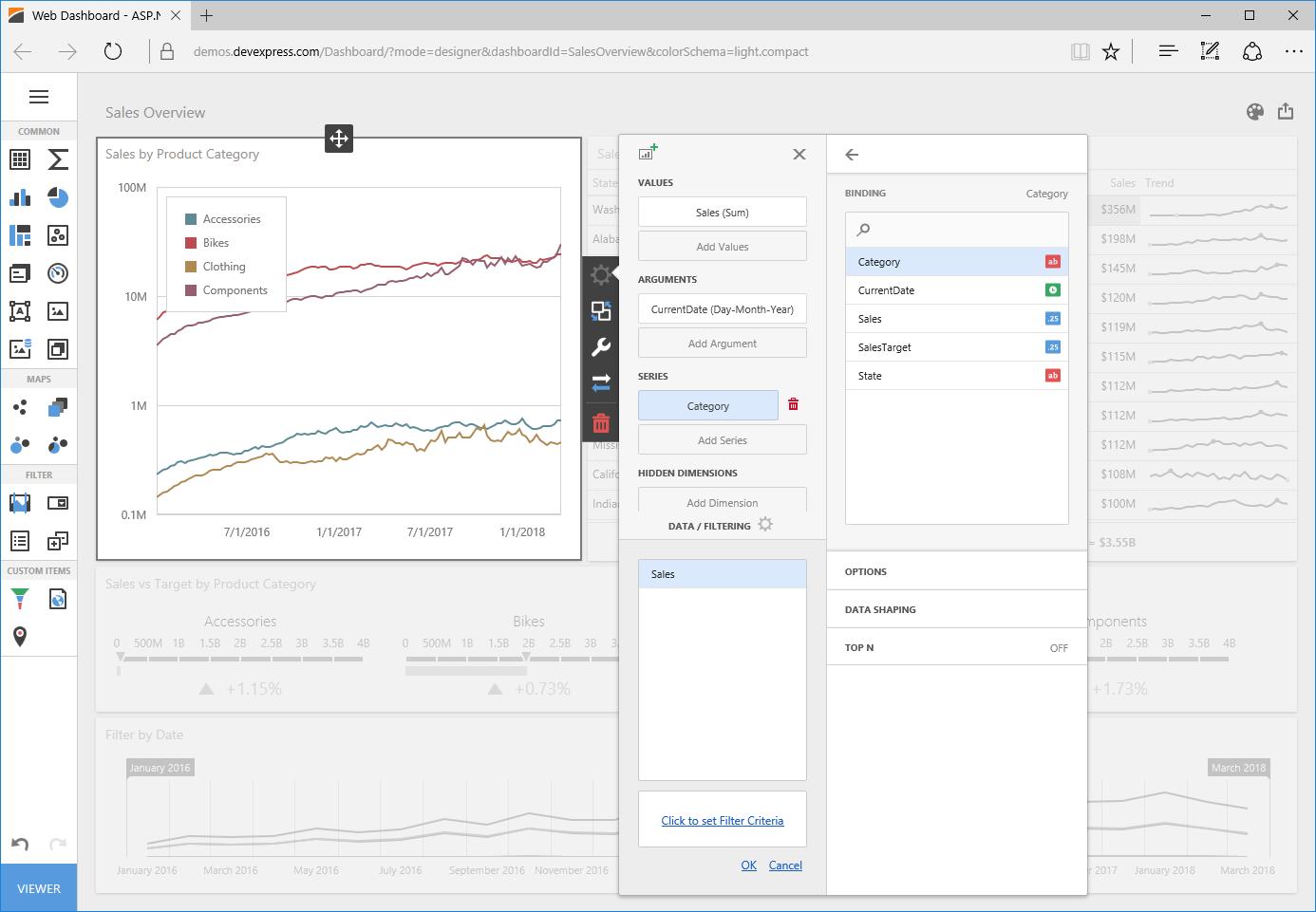 NET Dashboard Controls for WinForms, WPF, WebForms, ASP NET