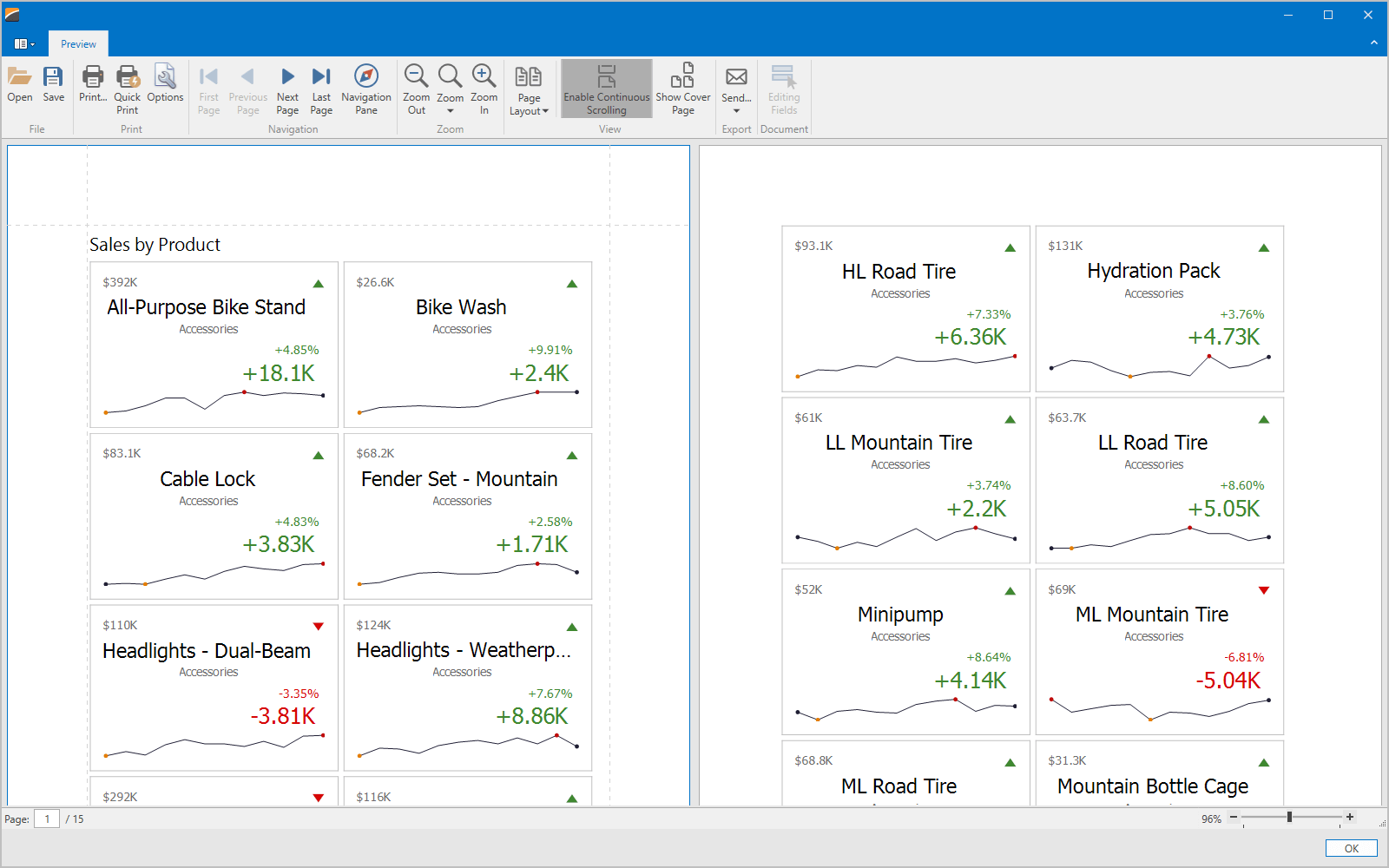 WPF Dashboard Viewer - Print Preview, DevExpress