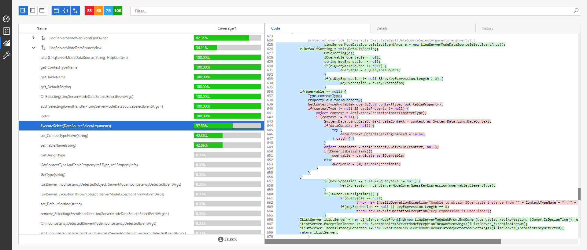 Code Coverage Enhancements - CodeRush, DevExpress