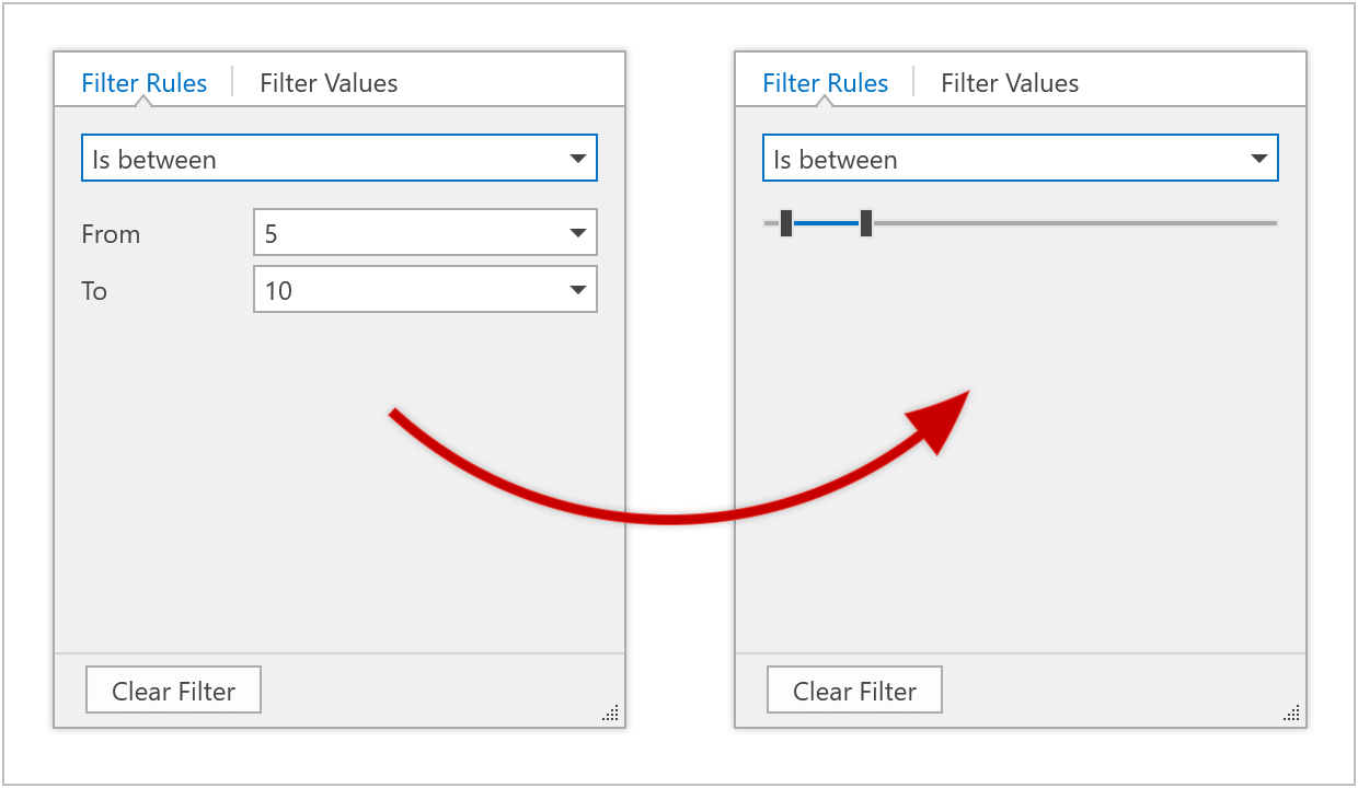 Excel-Style Drop-Down Filter Customization