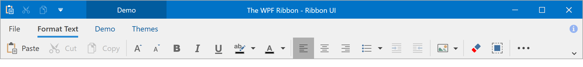 Simplified Mode - WPF Ribbon, DevExpress