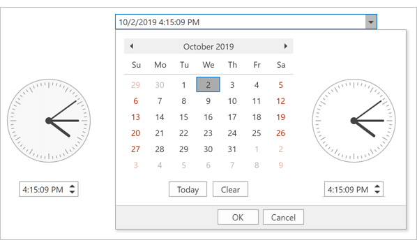 DevExpress Time Picker for WPF