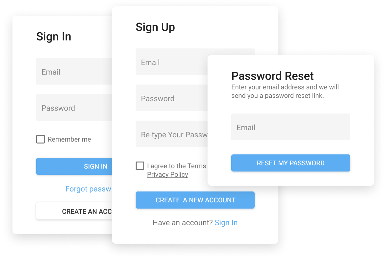 Authentication UI Template - React Components | DevExpress