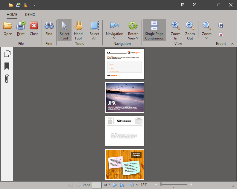 VCL PDF Viewer - Single Page Continuous Page Layout | DevExpress
