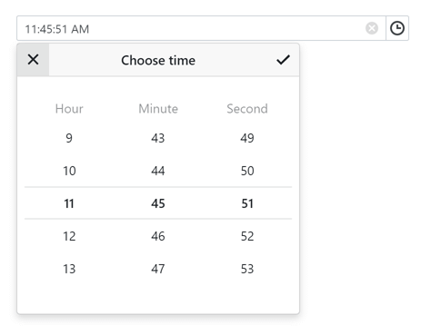 Time Editor for Blazor UI - DevExpress