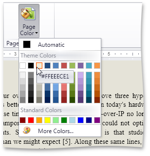 Page Background Color - DXRichEdit for WPF by DevExpress