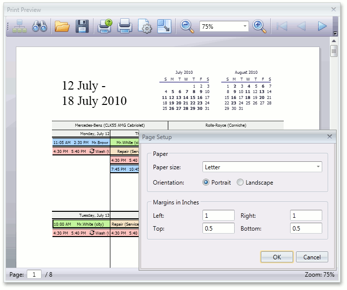 WPF Scheduler Control - Printing