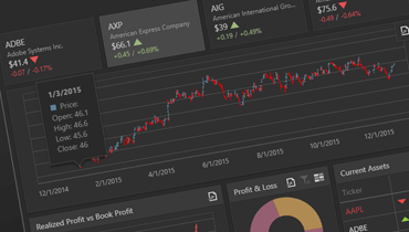 Financial Dashboard Web Application | DevExpress