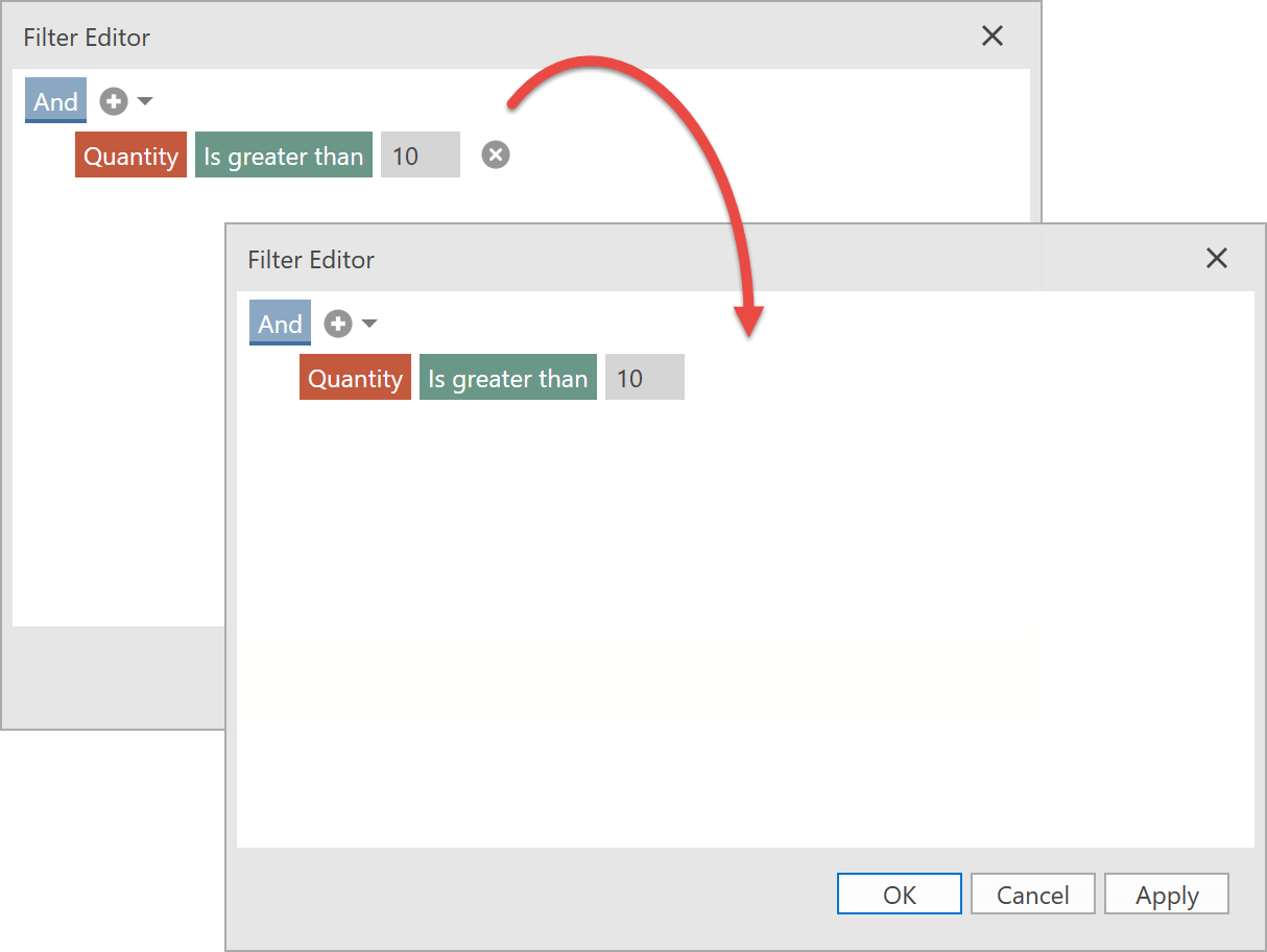 Prohibit Condition Operations - WPF Filter Editor, DevExpress